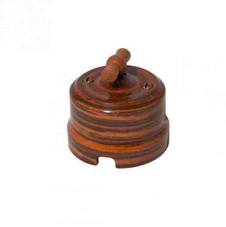 Выключатель 1-кл (проходной) Lindas одинарный декор Палисандр 34027