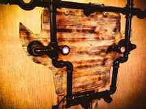 Светильник Огненный олень настенный / напольный в стиле лофт из чугуна
