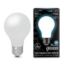 Лампа светодиодная Gauss груша матовая E27 10W 4100К 102802210