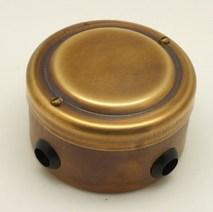 PETRUCCI Коробка распределительная 76*48 латунь, патина