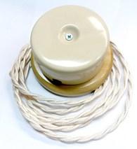Interior Electric Коробка распределительная керамическая на подложке Слоновая кость арт.РКИЕ9043С