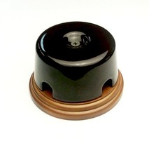 Interior Electric Коробка распределительная 77*40 керамическая на подложке коричневая арт.РКМИЕ7740К