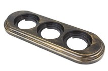 BF1-630-25 Bironi Рамка 3-х постовая, Пластик бронза