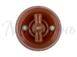 Выключатель фарфоровый поворотный на четыре положения (2-х клавишный, D70x60), цвет - коричневый, МезонинЪ GE70401-041