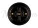 Выключатель 1-кл (проходной) фарфоровый поворотный на два положения (D70x60), цвет - черный, МезонинЪ GE70404-051
