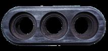 BF1-630-11/PL Рамка BIRONI 3-местная 270*96*21мм Серебряный век