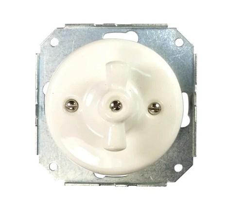 Механизм выключателя Colony 2-кл., белый Retrika арт.RV-SW-21