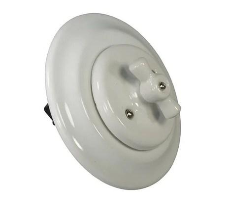 Выключатель 1-кл (проходной) Colony, белый Retrika арт.RV-SW-11