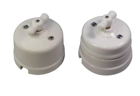 Механизм выключателя Ideal 2-кл., белый Retrika арт.R1-SW-21