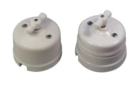 Выключатель 1-кл (проходной) Ideal,  белый Retrika арт.R1-SW-11