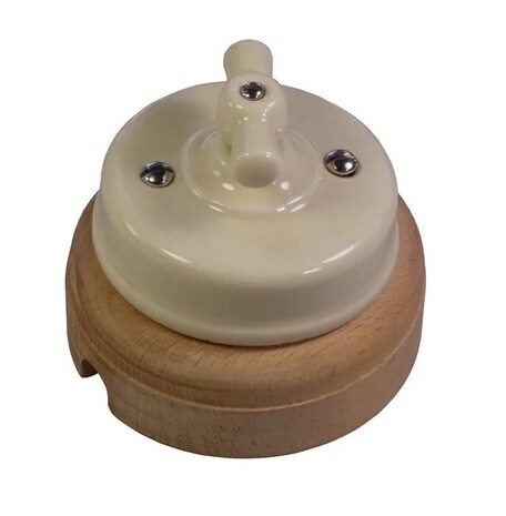Выключатель 1-кл (проходной) Ideal, слоновая кость Retrika арт.R1-SW-15