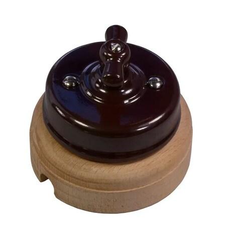 Механизм выключателя Ideal 2-кл., коричневый Retrika арт.R1-SW-22