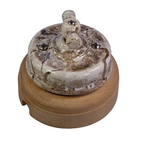 Выключатель 1-кл (проходной) Ideal, мрамор Retrika арт.R1-SW-16