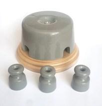 Interior Electric Коробка распределительная 77*40 керамическая на подложке серая арт.РКМИЕ7740С
