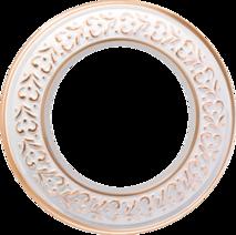 WL70-frame-01 Рамка на 1 пост (белое золото) арт.WL00323