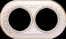 WL70-frame-02 Рамка на 2 поста (белое золото) арт.WL00326