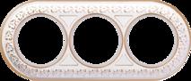 WL70-frame-03 Рамка на 3 поста (белое золото) арт.WL00329