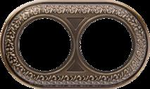 WL70-frame-02 Рамка на 2 поста (бронза) арт.WL00327