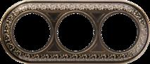 WL70-frame-03 Рамка на 3 поста (бронза) арт.WL00330