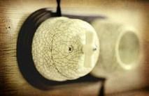 Выключатель фарфоровый поворотный на четыре положения (2-х клавишный, D70x60), цвет - Affresco, МезонинЪ GE70401-23