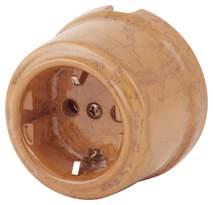 080-613 Розетка Паломино электрическая керамическая. С заземляющим контактом.240V, 16A.