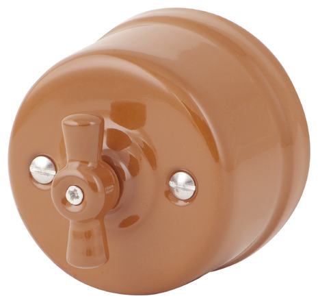 Выключатель 1-кл (проходной) 080-309 Дорато 1 положение, керамический. 240V, 10A.