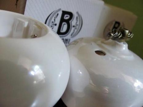 Выключатель 1-кл (проходной) B2-201-010/18 Bironi Фаберже перламутр