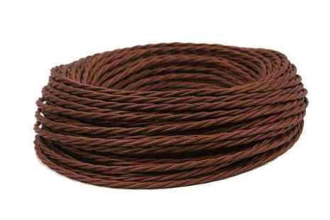 Провод витой ПВХ, в полиэфирной оплетке, (ПРВ 3-4.0), цвет коричневый Interior Wire