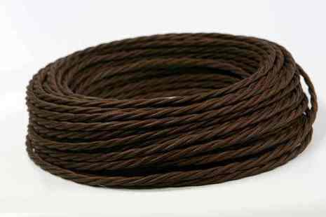 Провод витой ПВХ, в полиэфирной оплетке, (ПРВ 3-4.0), цвет шоколад Interior Wire