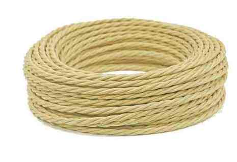 Провод витой ПВХ, в полиэфирной оплетке, (ПРВ 3-4.0), цвет сл. Кость Interior Wire
