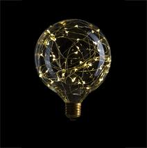 Лампа G125 STARRY, LED 2W, Прозрачная, E27, 240V, 2700К, 057-042