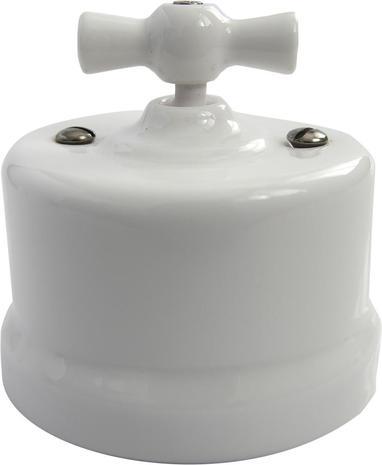 В1-202-01 Bironi Выключатель двухклавишный, белый
