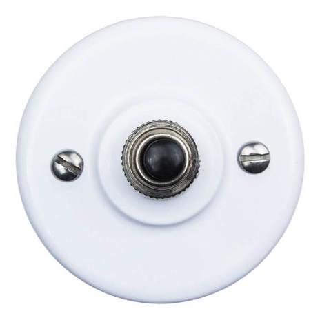 Выключатель импульсный BIRONI с кнопкой KN-21 Белый