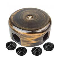 B1-521-25-К Коробка распределительная D78 с заглушками, пластик, бронза