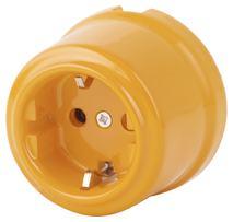 080-378 Розетка Баррикато электрическая керамическая. С заземляющим контактом.240V, 16A.