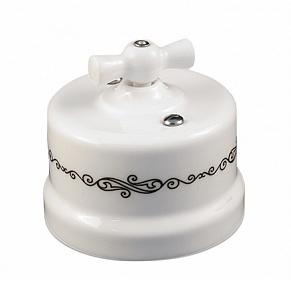 B1-202-01 D4/1 Bironi Выключатель двухклавишный, декор
