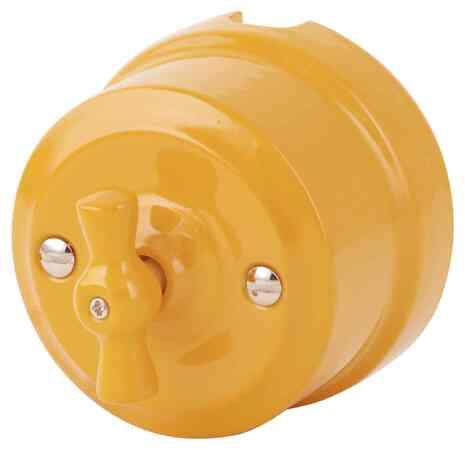 Выключатель 1-кл (проходной) ретро золотистая охра 341-ЗО Lindas 4-х позиционный