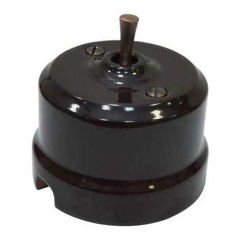Выключатель тумблерный перекрестный Lindas Lindas 34612-C, цвет коричневый/медь