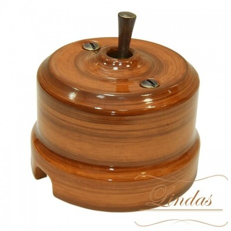 Выключатель тумблерный перекрестный Lindas Lindas 34626-B, цвет орех/бронза