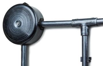 Тройник соединительный для труб d-16 мм, пластик, Серебряный Век, Bironi BTT1-16-11