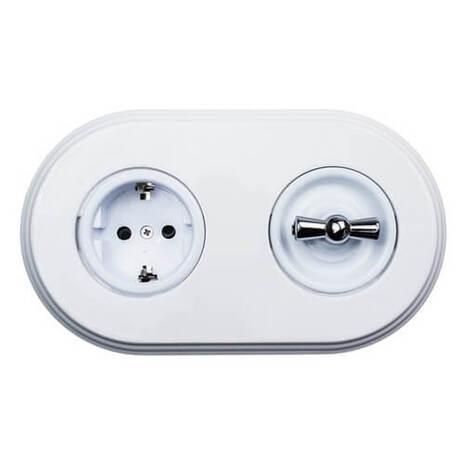 В3-062-21 Bironi Накладка для выключателя, белый