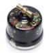 Выключатель 1-кл (проходной) OP11BL.HL 2-х позиционный для наружного монтажа, черный с росписью под Хохлому0