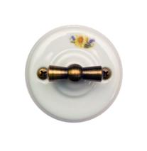 Выключатель 1-кл (проходной) OP11RM 2-х позиционный для наружного монтажа, ромашка