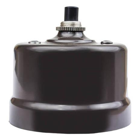 Выключатель импульсный BIRONI с кнопкой KN-22 Коричневый