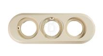 BF1-630-211 Bironi Рамка трехместная, Пластик слоновая кость