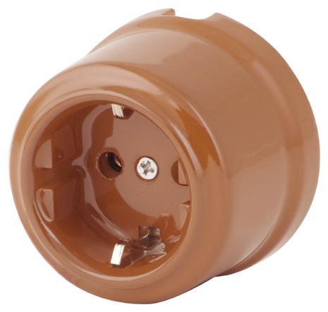 080-316 Розетка Дорато электрическая керамическая. С заземляющим контактом. 240V, 16A.