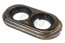 BF1-620-25 Bironi Рамка 2-х постовая, Пластик бронза