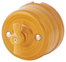 080-927 Выключатель Имперадор проходной двухклавишный, керамический. 240V, 10A.