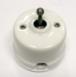 Выключатель 1-кл (проходной) OP41WT тумблерный 2-х позиционный для наружного монтажа, белый1