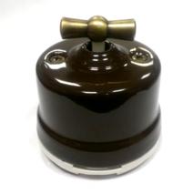 Выключатель 1-кл (проходной) OP11BR 2-х позиционный для наружного монтажа, коричневый